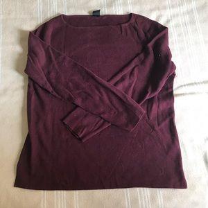 Gap Maroon Boatneck Sweater